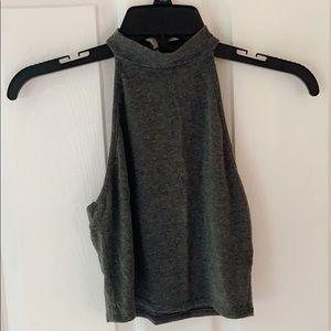 Heart & Hips grey halter top
